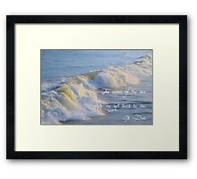 The Waves Of The Sea Framed Print