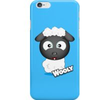 Farm Animal Fun Games - Wooly - Blue iPhone Case/Skin