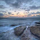 Pink sunset at Cronulla Beach by Rod Kashubin