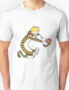 calvin and hobbes football T-Shirt