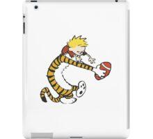 calvin and hobbes football iPad Case/Skin