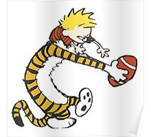 calvin and hobbes football Poster