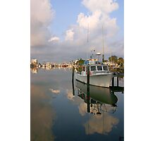 Docked in the morning Photographic Print