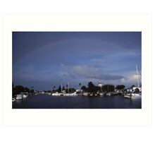 Rainbow on the bay Art Print
