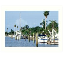 Docked boats Art Print