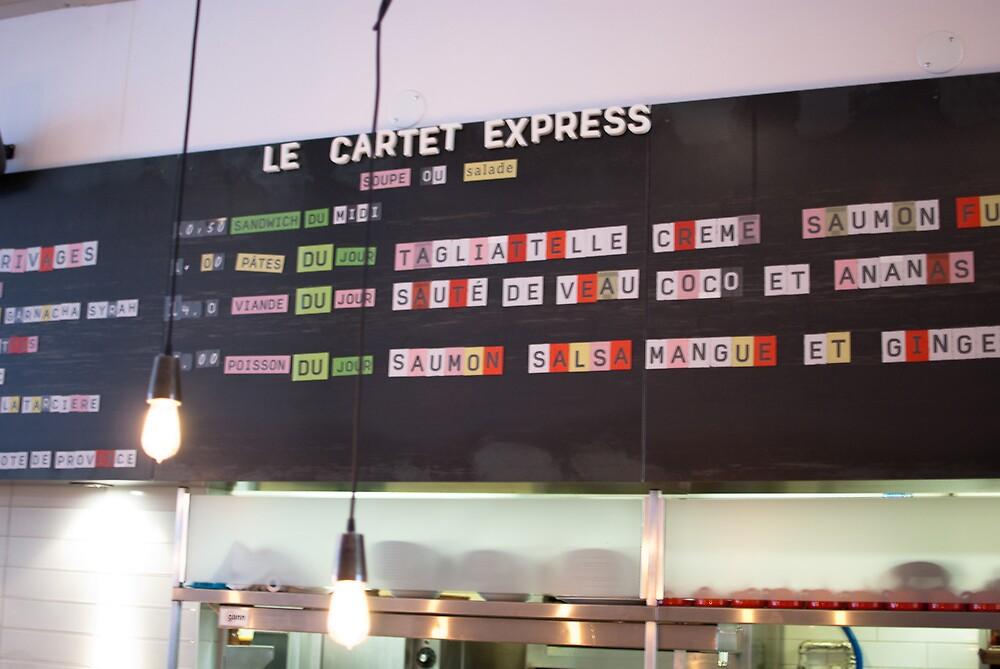 Le Cartet Menu Board by tgmurphy