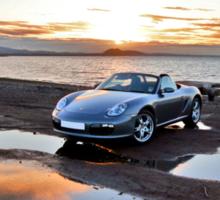 Porsche Boxster at Sunset Sticker