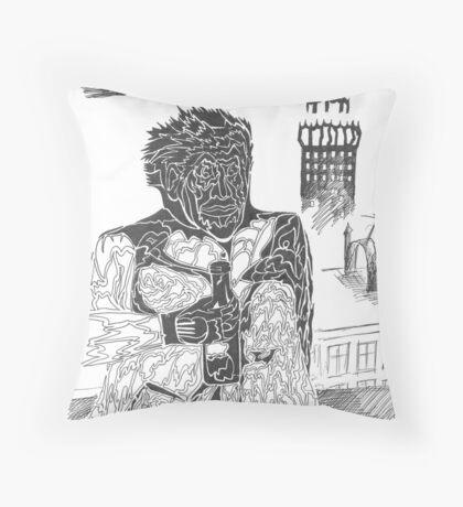 drunkard Throw Pillow