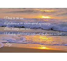 Reflections In The Waves Photographic Print
