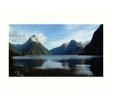 Winter Morning, Milford Sound, New Zealand Art Print
