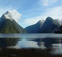 Winter Morning, Milford Sound, New Zealand by davecorban
