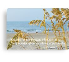 Find Tranquility Canvas Print