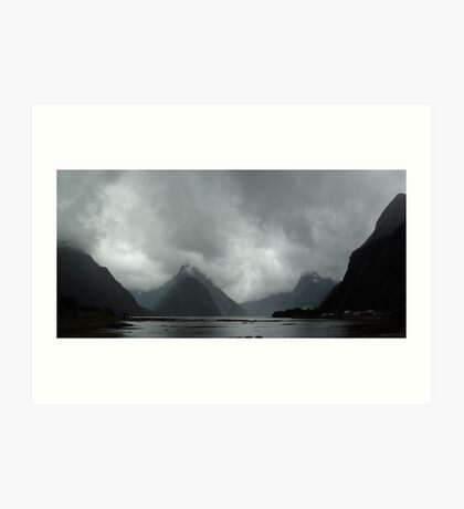Storm at Milford Sound Art Print