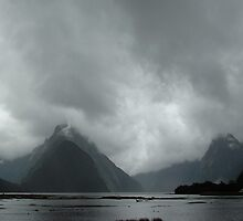 Storm at Milford Sound by davecorban