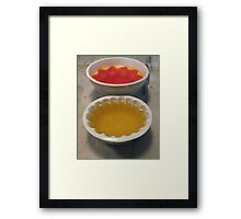 Get Set..... Framed Print