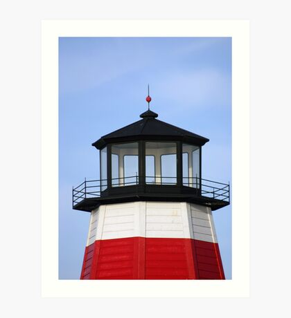 Lighthouse at the pass Art Print