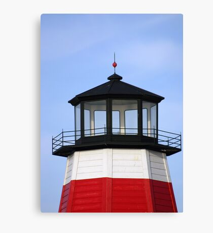 Lighthouse at the pass Canvas Print