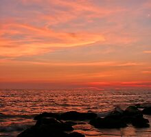 Sunset and rocks by kinz4photo