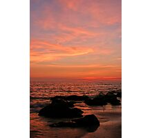 Sunset and rocks Photographic Print