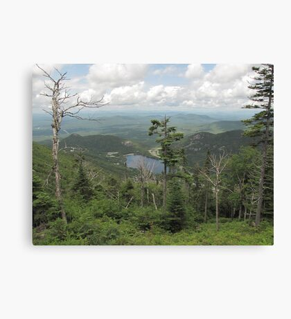 Climbing up Canon Mountain looking at Echo Lake Canvas Print