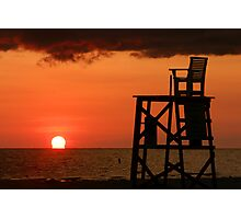 Lifeguard Chair Photographic Print