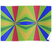 Rainbow rays abstract design Poster
