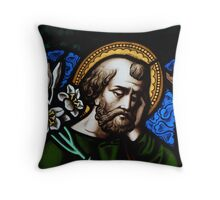 Worried Man Throw Pillow