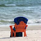Beach chair and towel by kinz4photo