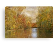 A Lazy River Ride in Fall Canvas Print
