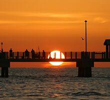 Pier Sunset by kinz4photo