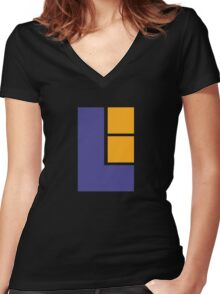 Lunar Women's Fitted V-Neck T-Shirt