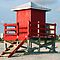 Red Lifeguard Shack by kinz4photo