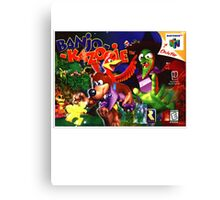 Banjo Kazooie N64 Nintendo Box cover  Canvas Print