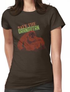 Save the Orangutan Womens Fitted T-Shirt