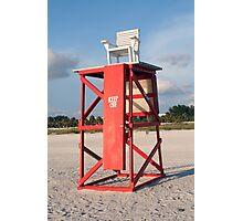 Lifeguard Chair Photographic Print