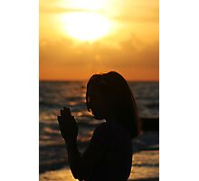 Prayer at the Sea Photographic Print