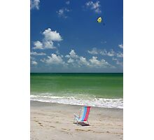 Chair and parasail Photographic Print