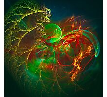 Green Pear - Colorful Digital Abstract Art  Photographic Print