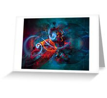 Gypsy Dream - Colorful Digital Abstract Art  Greeting Card