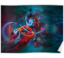 Gypsy Dream - Colorful Digital Abstract Art  Poster
