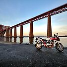 Honda CB1300, Forth Bridge by justhypemedia