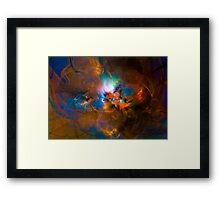 Hanging in the balance of reality - Colorful Digital Abstract Art  Framed Print