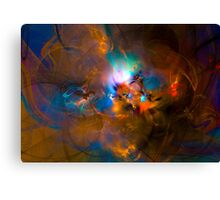 Hanging in the balance of reality - Colorful Digital Abstract Art  Canvas Print