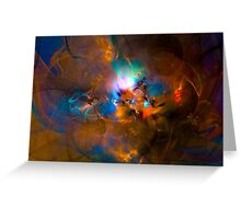 Hanging in the balance of reality - Colorful Digital Abstract Art  Greeting Card