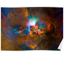 Hanging in the balance of reality - Colorful Digital Abstract Art  Poster