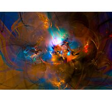 Hanging in the balance of reality - Colorful Digital Abstract Art  Photographic Print