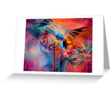 The Great Adventure- Colorful Digital Abstract Art  Greeting Card
