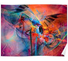 The Great Adventure- Colorful Digital Abstract Art  Poster