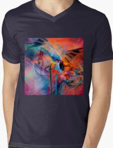 The Great Adventure- Colorful Digital Abstract Art  Mens V-Neck T-Shirt