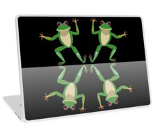 HAPPY DANCE BY FINGERS & TOES FROGS Laptop Skin